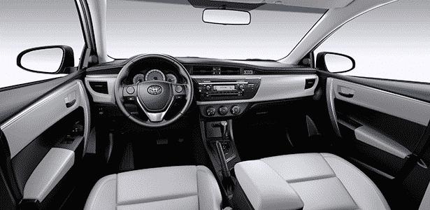 Toyota Corolla GLi 2015 interior - Divulgação - Divulgação