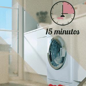 limpeza da área de serviço em 15 minutos - Arte UOL
