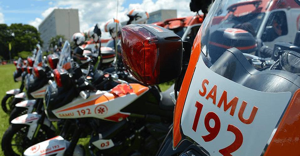 Motos do SAMU de Brasília (DF)