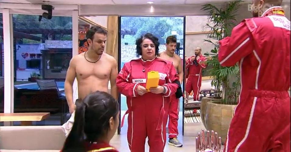 21.mar.2015 - Após vencer a prova do anjo, Mariza fica chocada com o fato de Fernando ter que passar o dia como prisioneiro