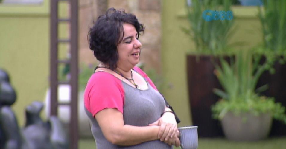 """21.mar.2015 - Mariza critica a atitude de Amanda, na tarde deste sábado (21) no """"BBB15"""""""