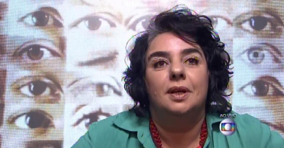 23.mar.2015 - Mariza justificou o voto em Fernando, ao falar do distanciamento com o brother. A professora foi indicada pela líder.