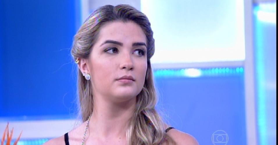 """23.mar.2015 - No """"Encontro"""", Aline diz que não aceita namorar com Fernando após ele ficar com Amanda"""