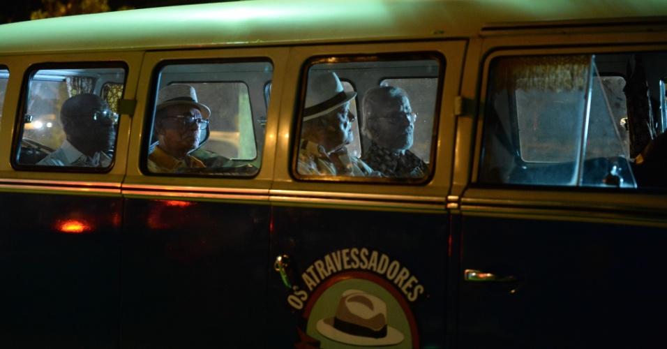 """Lucas (Germano Mathias), Oswaldo (Goulart de Andrade), Amaro (Zé Maria) e Mateus (Wilson das Neves), da série """"Os Experientes"""""""