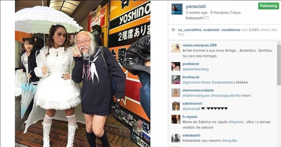 Sabrina Sato passa cinco dias no Japão e grava programa sobre curiosidades nas ruas de Tóquio
