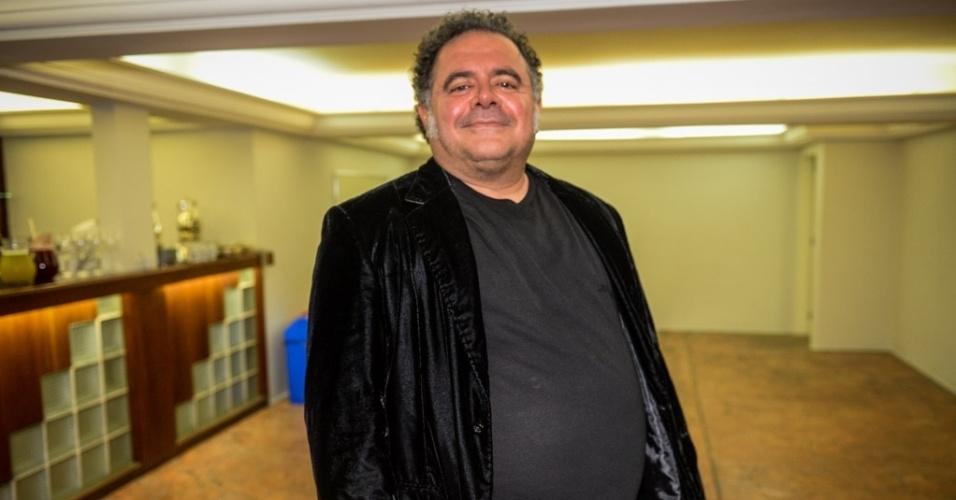 24.mar.2015 - Leo Jaime na festa de 10 Anos do programa