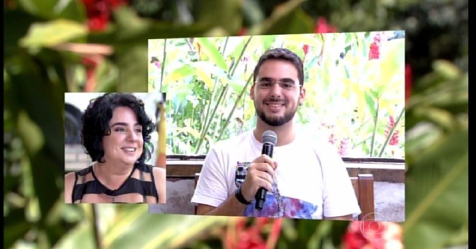 """23.mar.2015 - Filho de Mariza, Caio Guimarães diz no """"Mais Você"""" que sente orgulho da mãe"""