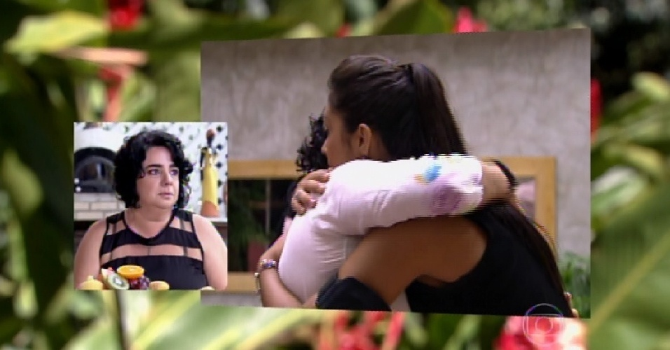 "23.mar.2015 - Nona eliminada do ""BBB15"", Mariza conversa com Ana Maria Braga sobre sua experiência no reality show"