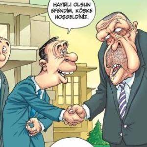 25.mar.2015 - Charge da revista Penguen que rendeu multa a dois cartunistas turcos por representarem o presidente Tayyip Erdogan como um possível homossexual - Reprodução