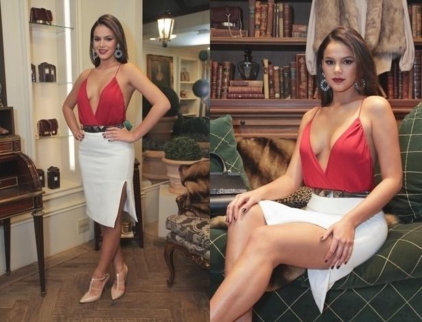 Bruna Marquezine escolhe look sensual para evento em São Paulo - AgNews