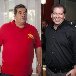 Leandro Hassum em 2014 e atualmente, após perder 35 quilos