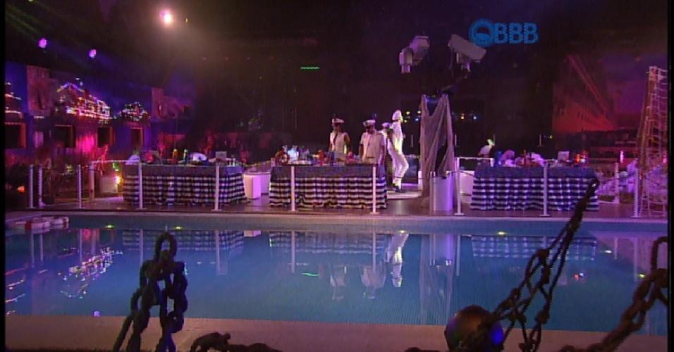 27.mar.2015 - Brothers curtem festa Cruzeiro BBB