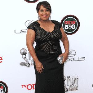 Chanda Wilson matéria vestidos plus size - Getty Images