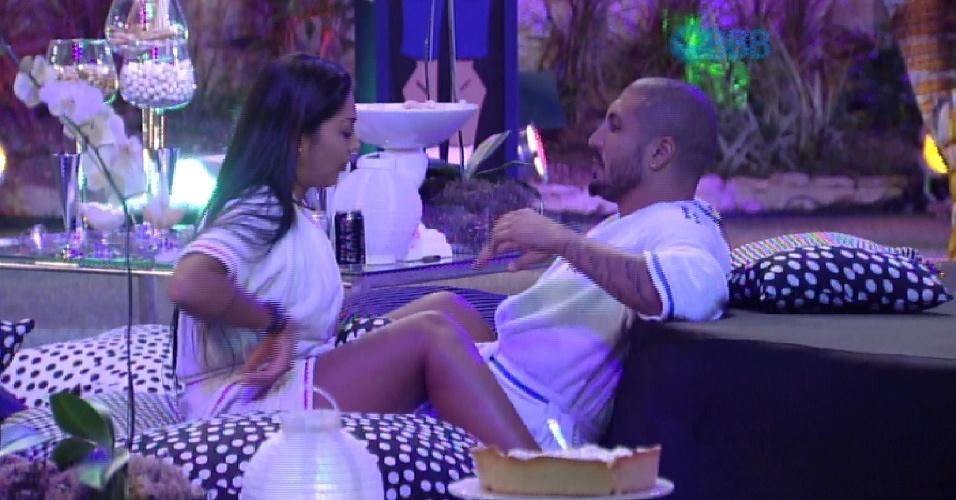 """29.mar.2015 - Fernando faz uma promessa para Amanda quando deixar a casa: """"A gente vai resolver tudo isso lá fora. Tudo. A gente vai para a Austrália"""""""