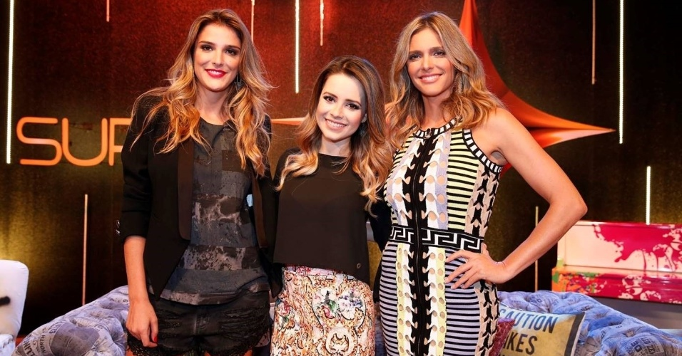 "30.mar.2015 - Rafa Brites, Sandy e Fernanda Lima posam juntas na coletiva do ""Superstar"""