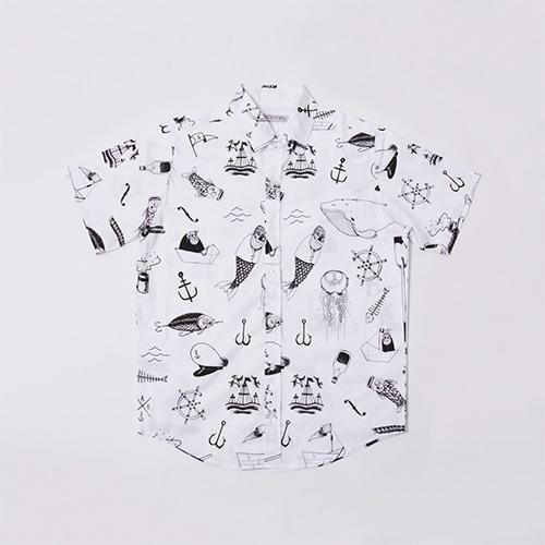 4faf736ff Camisa com desenhos náuticos divertidos, da Tricky Hips. Preço: R$ 129.