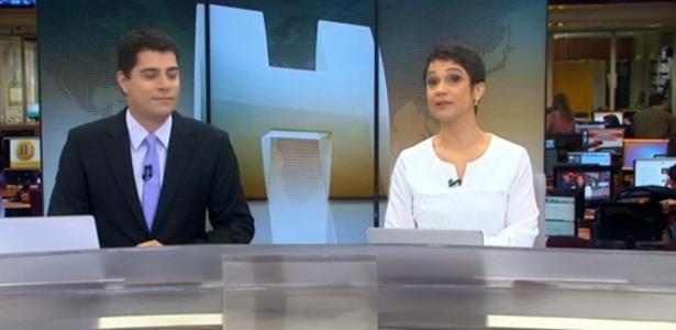 """Sandra Annenberg chora ao se despedir da jornalista Beatriz Thielmann no """"Jornal Hoje"""""""