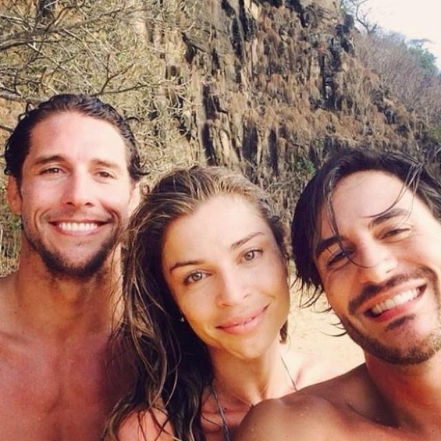 Grazi Massafera e Flavio Canto se aproximaram em novembro de 2014, mas eles só começaram a sair há um mês