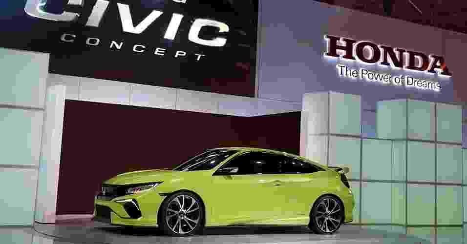 Honda Civic Concept no Salão de Nova York 2015 - Shannon Stapleton/Reuters
