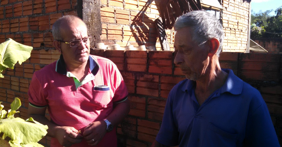 Walter Feo, professor de música de Cézar, e o pai do brother, Darcílio Lima