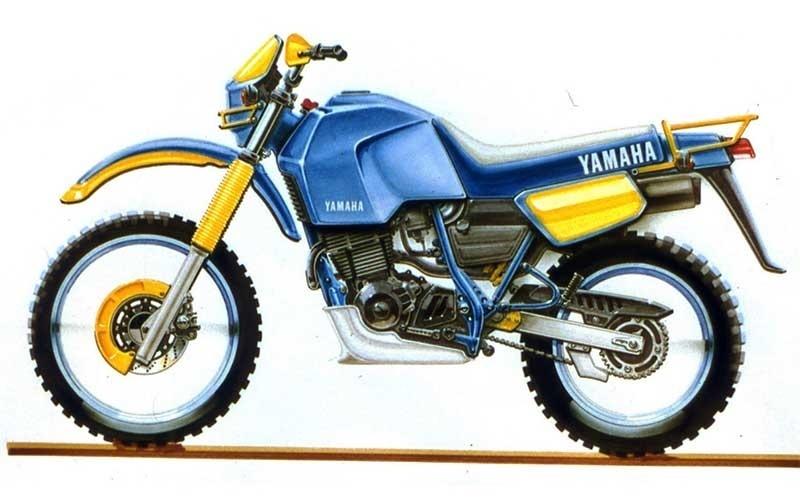Esquete da primeira Yamaha Ténéré 600