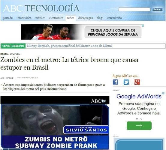 3.abri.2015 - Imprensa internacional dá destaque à pegadinha de Silvio Santos