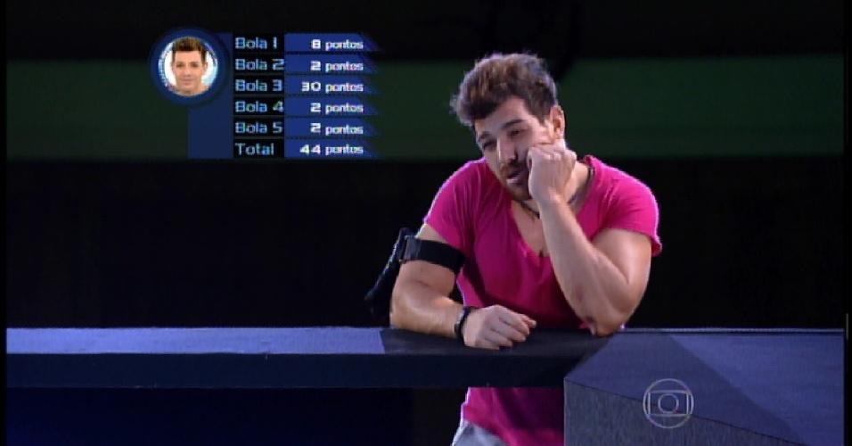 3.abr.2015 - Cézar quase ganhou a prova, mas por apenas dois pontos, a vencedora foi Amanda
