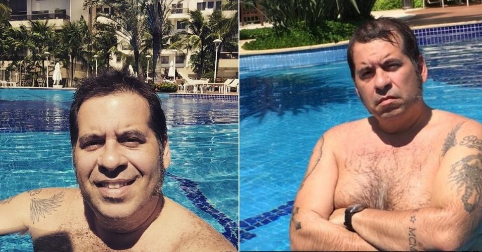 Com menos 35kg, Leandro Hassum posa sem camisa