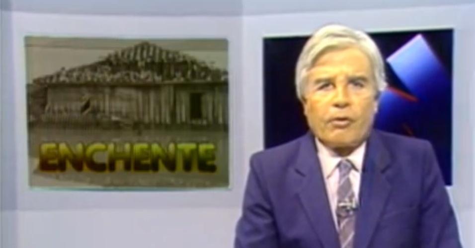 Jornal Nacional na cobertura das enchentes de 1983