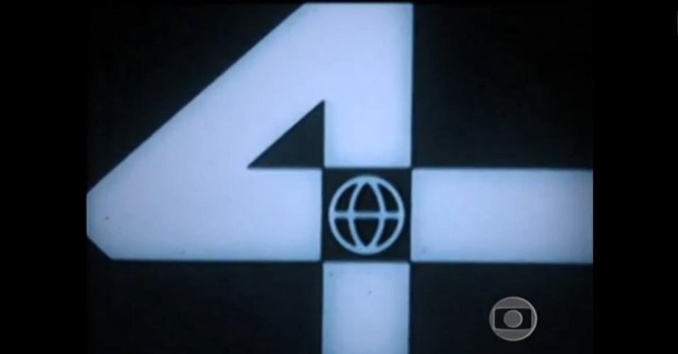 Primeiro logo da TV Globo, que estreou no canal 4 do Rio de Janeiro