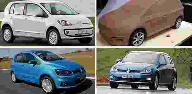 up!, Gol, Fox e Golf: estes serão os hatches da Volks em 2016, dando fim ao Polo - Arte UOL Carros - Arte UOL Carros