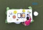 Cézar finalmente aparece e brothers curtem último almoço na casa juntos - Reprodução/TV Globo
