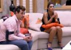 """Ansiosos para a final do """"BBB15"""", Amanda e Cézar já estão prontos na sala - Reprodução/TV Globo"""