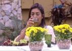 """Sozinha, Amanda brinda a """"todos que passaram aqui, ao meu amor"""" - Reprodução/TV Globo"""