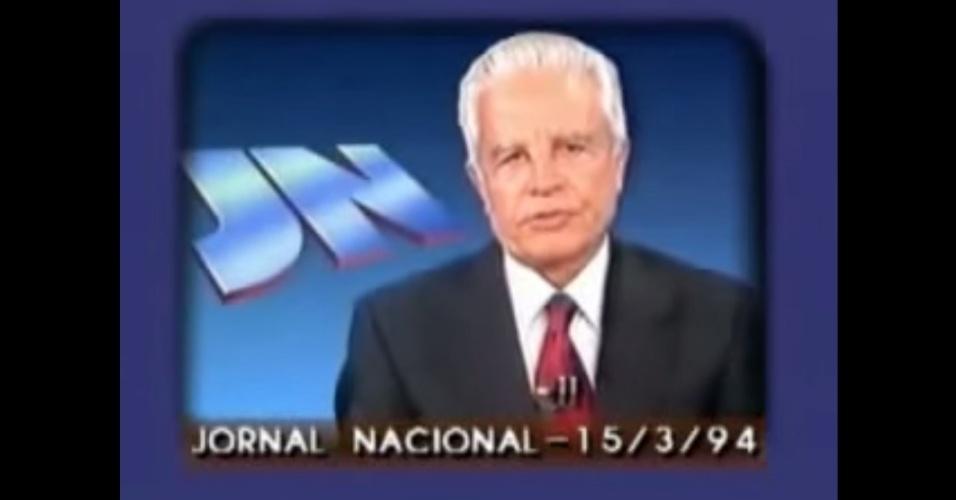 Cid Moreira lê direito de resposta de Leonel Brizola no JN