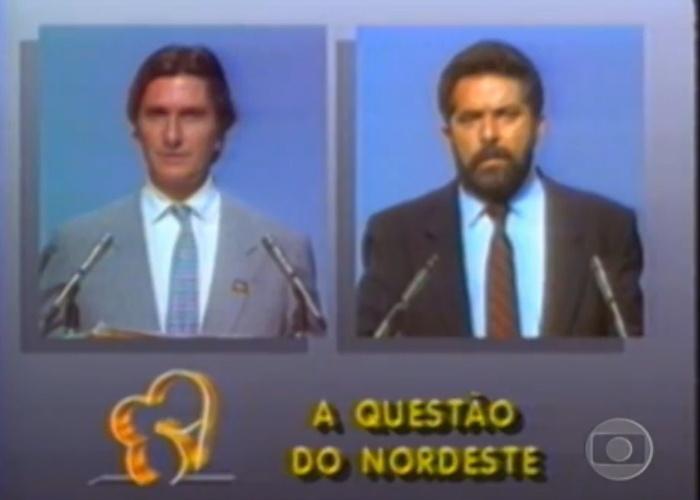 Edição do JN do último debate entre Collor e Lula