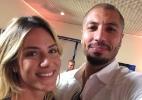 Fernando tieta a atriz Giovanna Ewbank no Projac - Reprodução/Instagram/fernandomedeiros