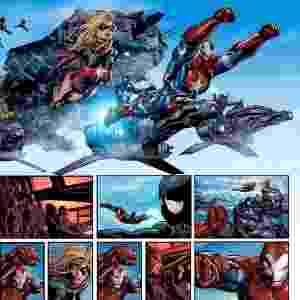 Página de HQ de super-heróis da Marvel com desenhos do brasileiro Mike Deodato - Reprodução