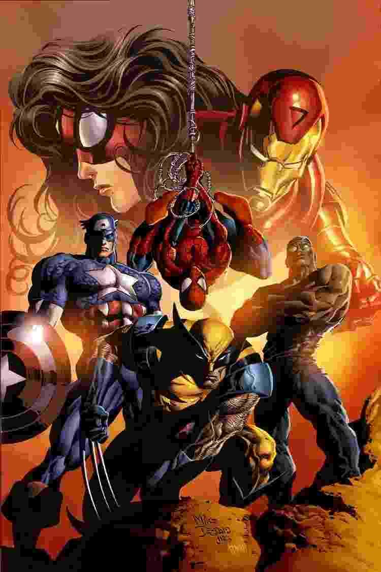 Super-heróis da Marvel nos traços do brasileiro Mike Deodato - Reprodução