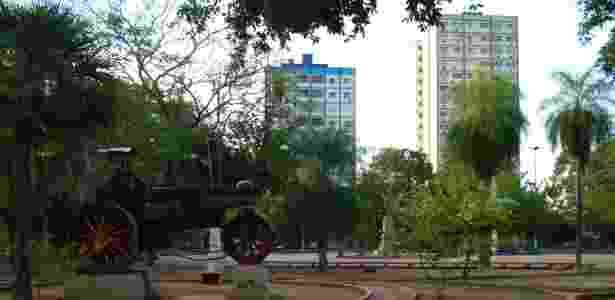 Centro de Corumbá visto a partir do Jardim da Independência - Jerônimo Freitas Rodrigues de Carvalho/Creative Commons