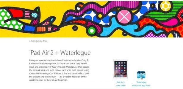 Imagem supostamente inspirada em Romero Britto utilizada sem autorização pela Apple - Reprodução/Apple
