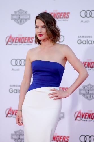 13.abr.2015 - Cobie Smulders comparece a pré-estreia de