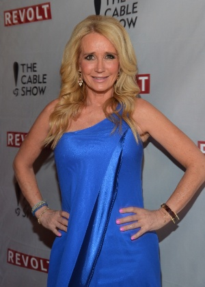 """30.abr.2014 - Participante do reality show """"The Real Housewives of Beverly Hills"""", Kim Richards comparece a evento em Los Angels, California"""