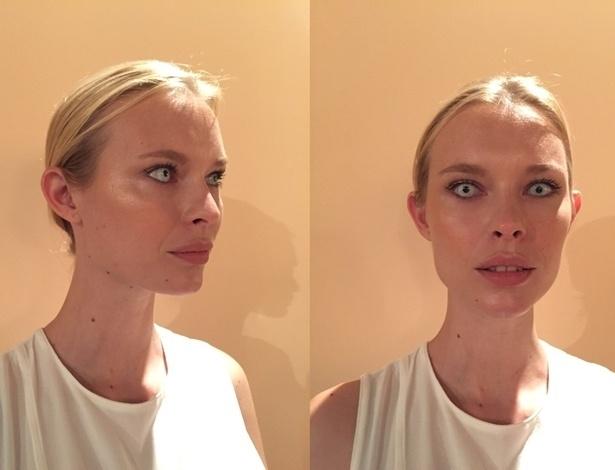 Maquiagem para o desfile do estilista Lino Villaventura - Bianca Iaconelli/UOL