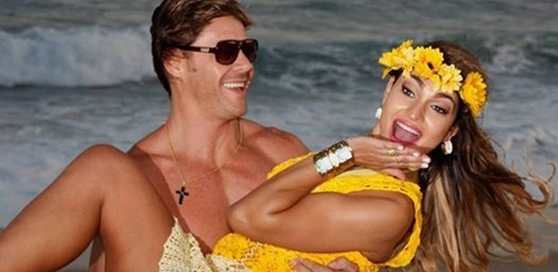 Theo Becker e a mulher Raphaela Lamim  - Reprodução/Facebook