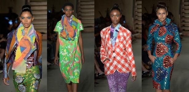 Desfile de estilistas africanos durante SPFW trouxe cores e formas para as passarelas - Francisco Cepeda/AGNews-SP