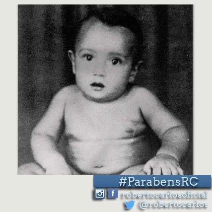 19.abr.2015- No dia que Roberto Carlos completa 74 anos, a página oficial do cantor publicou uma foto do rei ainda bebê