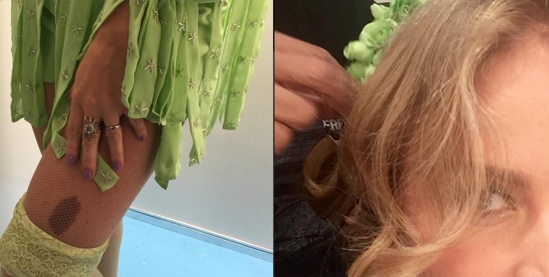 22.abr.2015 - A apresentadora Angélica fez uma surpresa aos seus seguidores no Instagram, nesta quarta-feira. Mostrando apenas ângulos fechados, ela postou fotos mostrando que vestia o figurino de Bela, sua antiga personagem na novelinha
