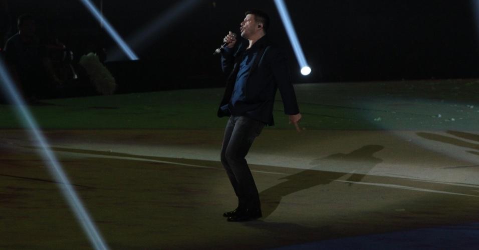 23.abr.2015 - Paulo Ricardo foi uma das atrações no show em comemoração aos 50 anos da TV Globo, no Maracanãzinho