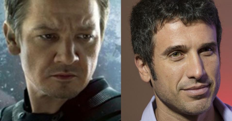 A maioria dos personagens que Eriberto Leão interpretou nas novelas têm aquele jeito canastrão do Gavião Arqueiro, que no cinema é interpretado por Jeremy Renner